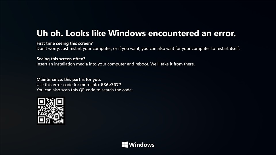 Windows 10 et le BSOD