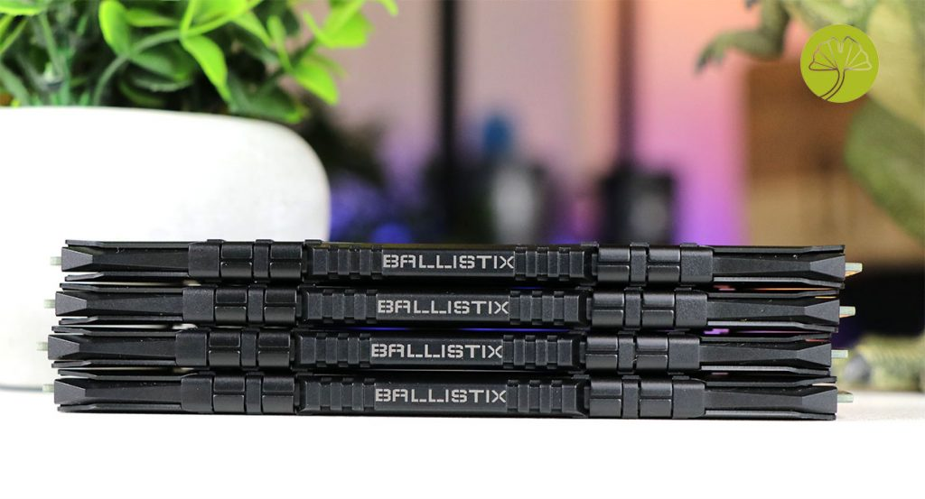 Kit 4 x 16 Go Ballistix Black DDR4-3200