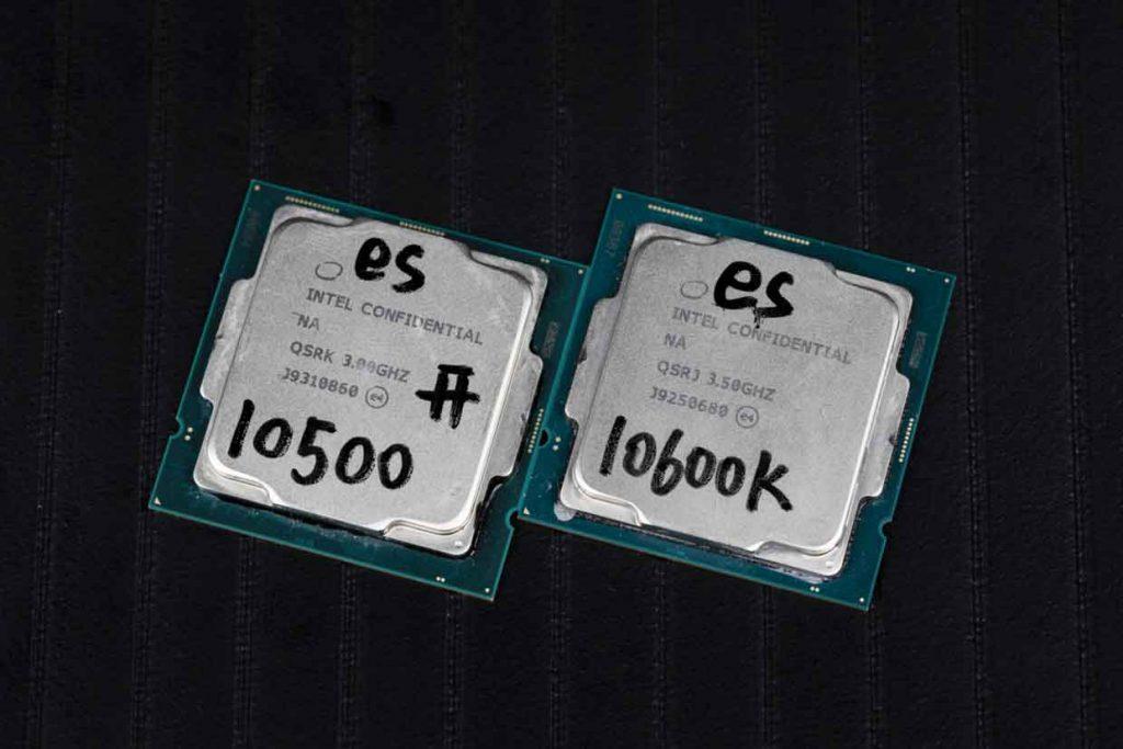Processeurs Intel Core i5-10500 et Core-i5-10600K