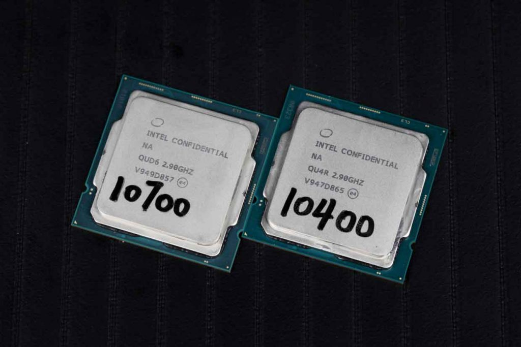 Processeurs Intel Core i7-10700 et Core i5-10400