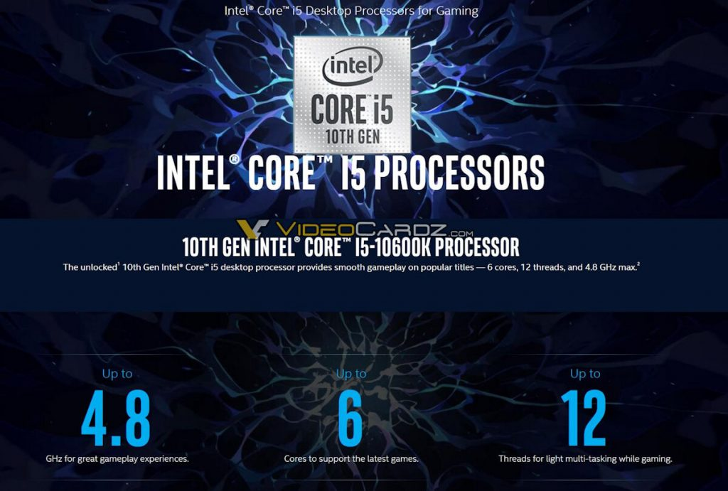 Processeur Intel Core i5-10600K