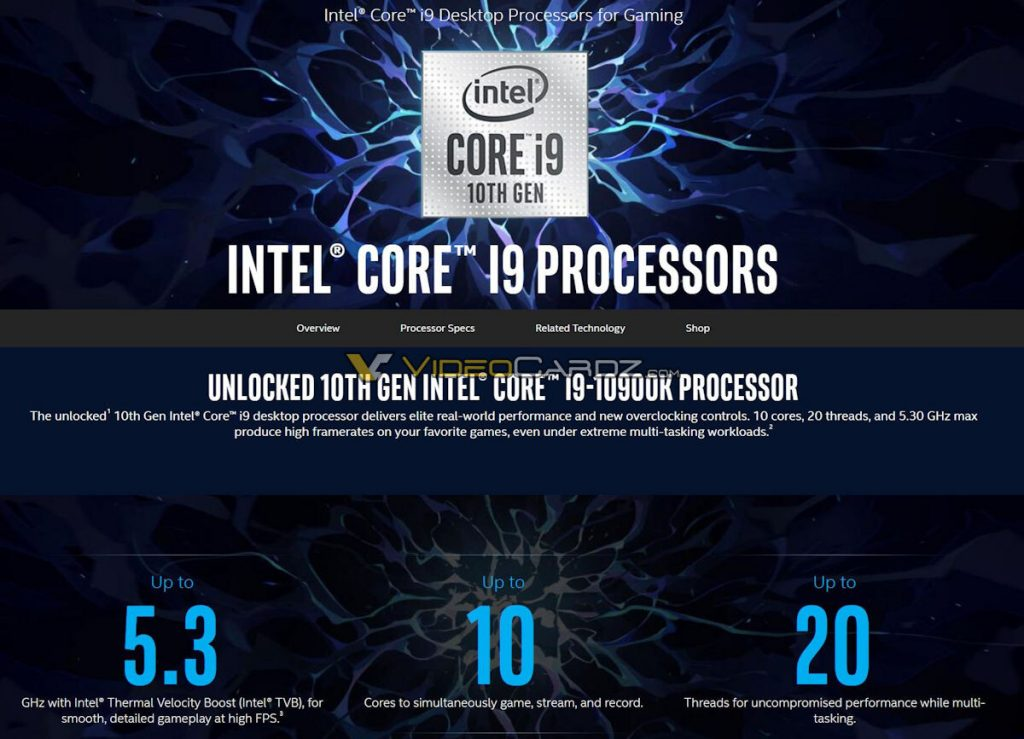 Processeur Intel Core i9-10900K