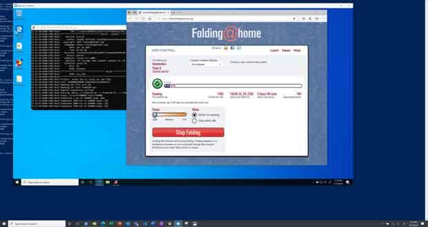 Windows 10 et le client Folding@Home exécuté dans une SandBox