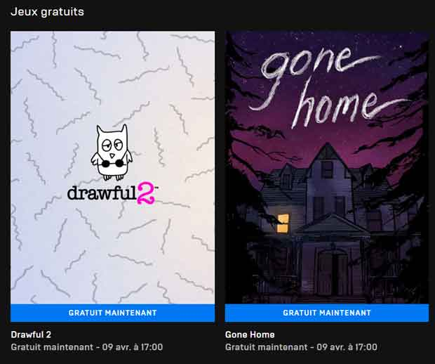 Drawful 2 et Gone Home