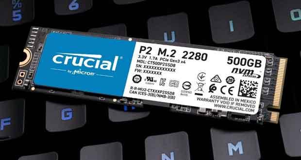 SSD P2 de Crucial