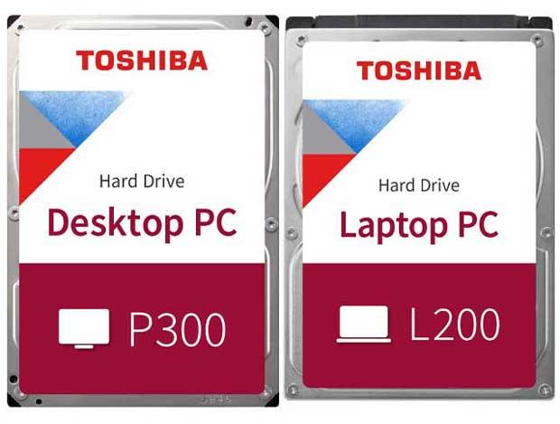 Disques durs P300 et L200 de Toshiba
