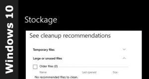 Windows 10 et les recommandations de nettoyage