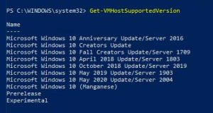 Windows 10 v2004 alias May 2020 Update