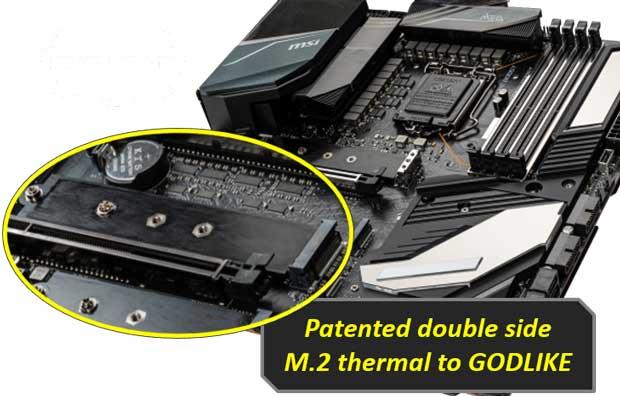 Carte mère MSI 400 series - Dissipateur thermique ports M.2