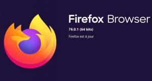Navigateur Firefox 76.0.1 de Mozilla