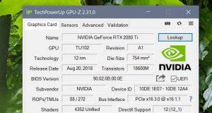 Utilitaire GPU-Z v2.31