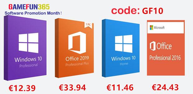GameFun365 - Windows 10 et Office