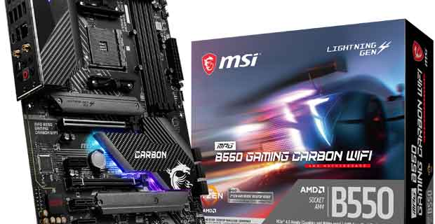 Carte mère MSI MPG B550 GAMING CARBON WIFI
