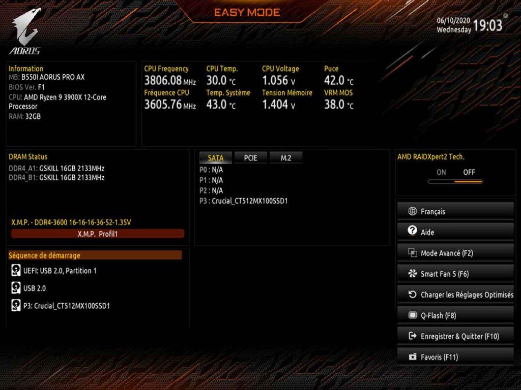 B550I Aorus Pro AX - BIOS