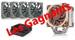 Jeu concours Noctua/GinjFo – 200 € de lots (ventirads NH-U12A, NH-L9a-AM4 Chromax.black et 4 NF-P12 Redux-1300 PWM) - Les grands gagnants