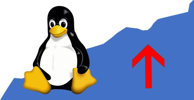 La part de marché de Linux progresse