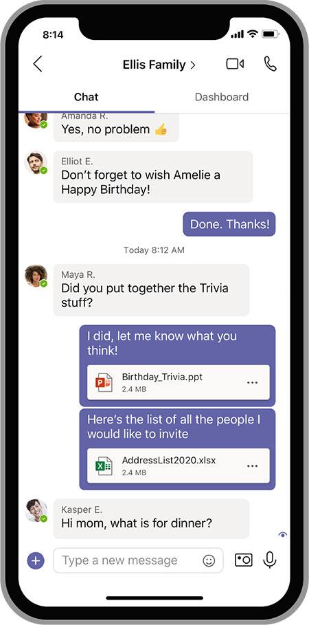 Microsoft Teams, versions gratuites Android et iOS