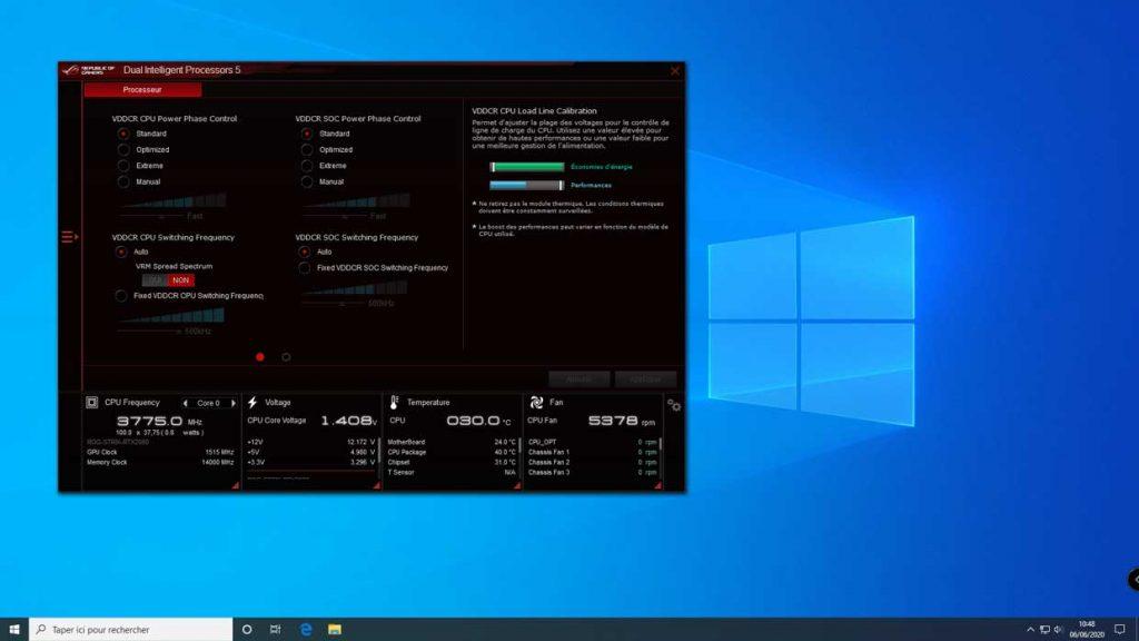 ROG STRIX B550-E Gaming - Suite logicielle sous Windows