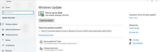 Windows 10 et les mises à jour « Preview »