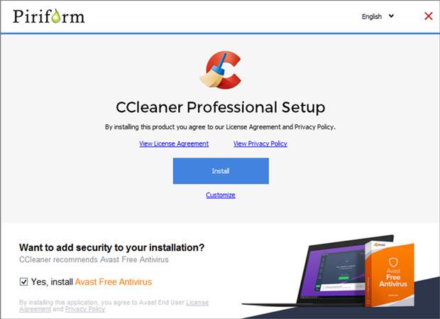 CCleaner et Windows 10