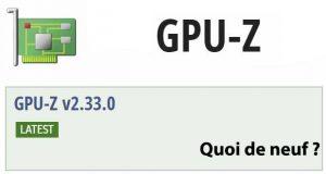 Utilitaire GPU-Z v2.33