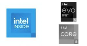 """Logo """"Intel Inside"""" et EVO i5"""