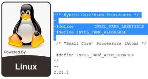 Linux, un Patch confirme l'architecture Hyprid Core d'Intel avec les processeurs Alder Lake
