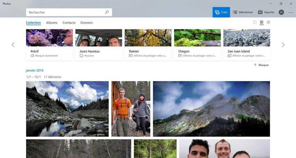 Application Photos de Microsoft (Windows 10)
