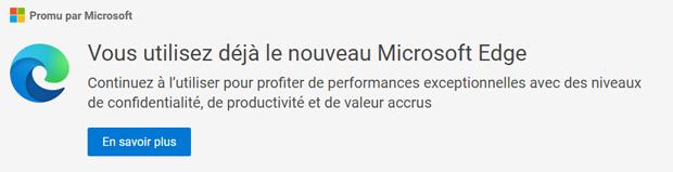 Microsoft Edge - Publicité de Microsoft