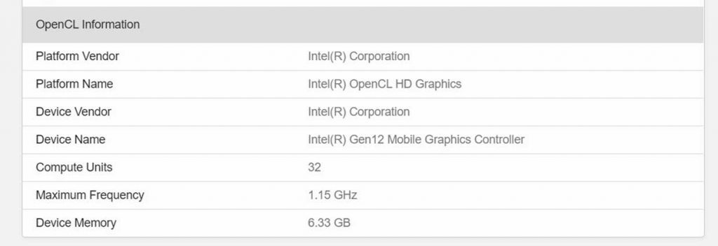 Processeur Core Rocket Lake-S d'Intel – Base de données du benchmark Geekbench 5