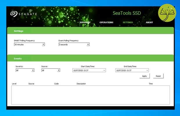 SSD IronWolf 510 1,92 To - SeaTools