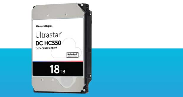 Disque dur Ultrastar DC HC550 18 To de Western Digital