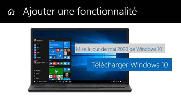 Windows 10 – Ajouter une fonctionnalité
