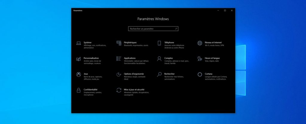 Windows 10 et Paramètres