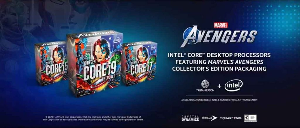 Processeurs Intel Core Marvel's Avengers Collector's Edition Packaging