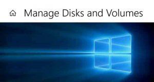Application « Gestion des disques » de Windows 10