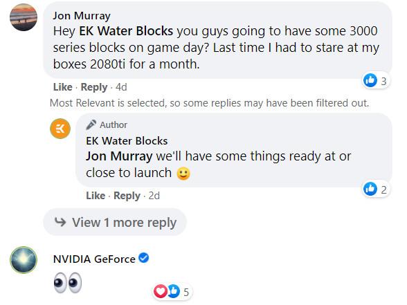 GeForce RTX 3000 series et EK Water Bocks