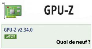 Utilitaire GPU-Z v2.34