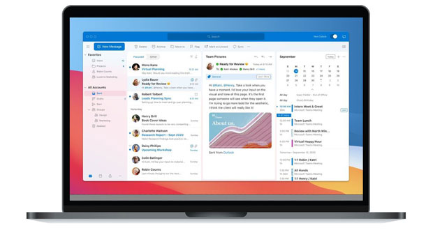 Outlook pour macOS Big Sur
