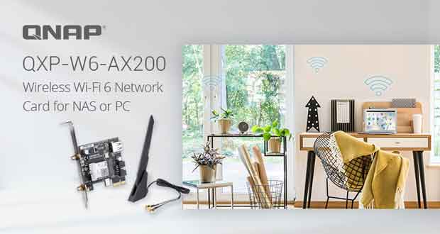 Carte fille Wi-Fi 6 QNAP QXP-W6-AX200