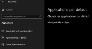 Windows 10 et les applications par défaut
