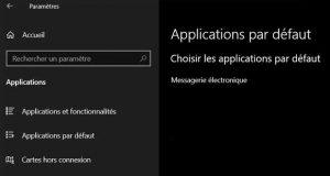 Windows 10 et les applications par défaut