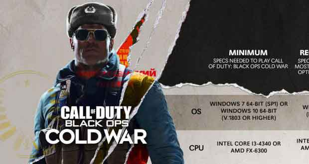 Call of Duty: Black Ops Cold War, les recommandations matérielles PC