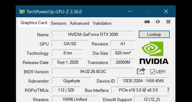 Utilitaire GPU-Z 2.36.0