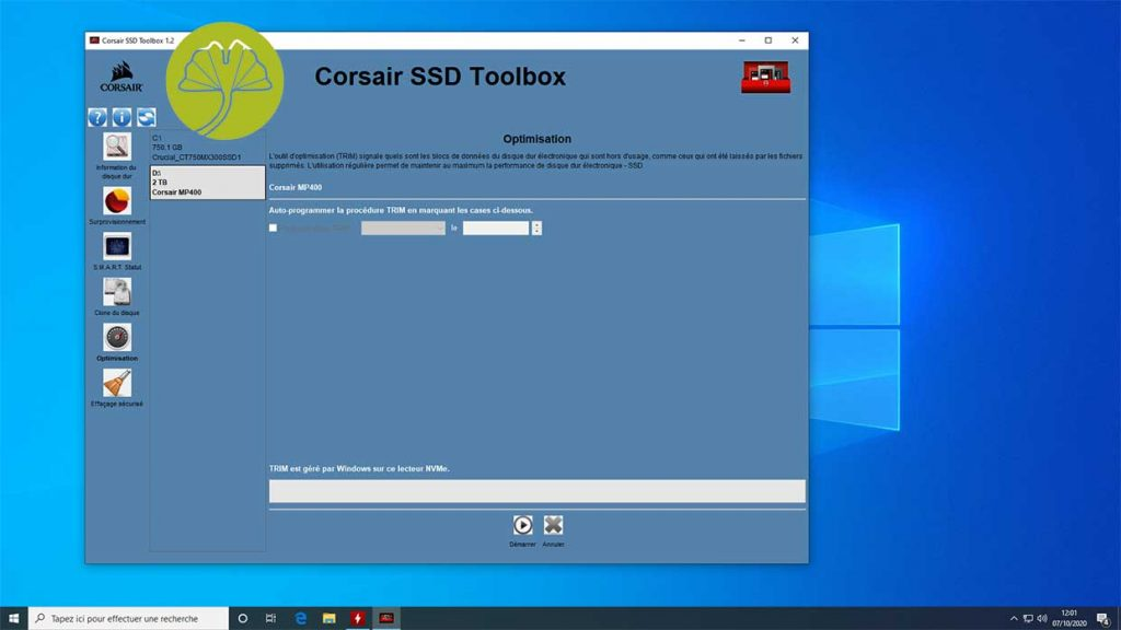 SSD Corsair MP400 2 To