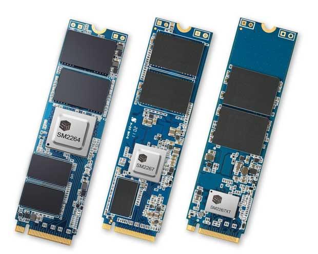 Contrôleurs Silicon Motion SM2264, SM2267 et SM2267XT