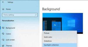 Windows 10 et la fonction Spotlight Collection