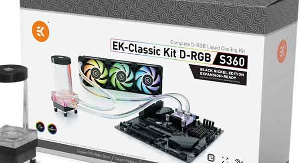 EK-Classic Kit D-RGB S360 Black Nickel Edition