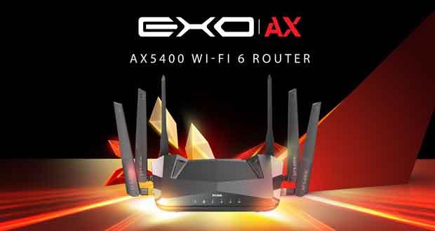 EXO AX AX5400 Wi-Fi 6 Router DIR-X5460