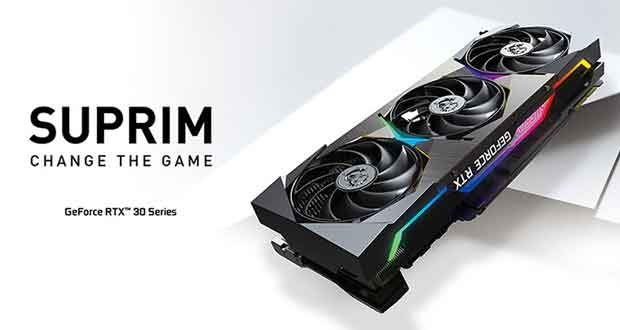 GeForce RTX 30 series SUPRIM X de MSI